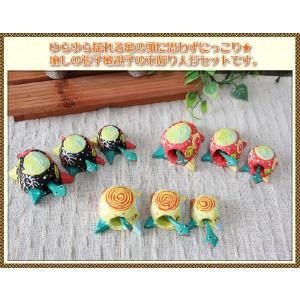 エスニック アジアン 雑貨 木彫り人形 アジアン 木彫り張り子亀親子セット インテリア 置き物|ital-village