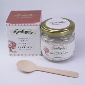 黒トリュフ塩 サマートリュフ 90g タルトゥフランゲ イタリア産トリュフ塩 木のスプーン付き|italiatanicha2
