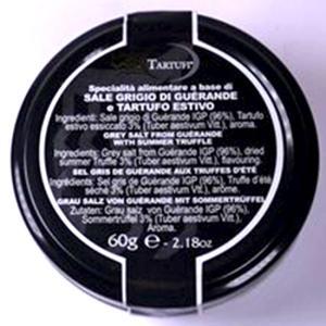 ジュリアーノ・タルトゥーフィ社 ゲランド サマートリュフ入り塩 イタリア産 60g