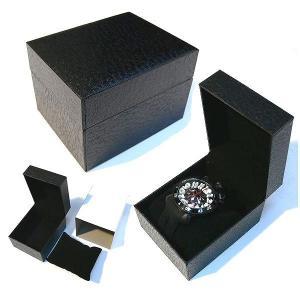 時計BOX 時計箱 腕時計専用BOX 箱 ウォッチケース時計ケース 腕時計箱 ギフトボックス 黒|italico