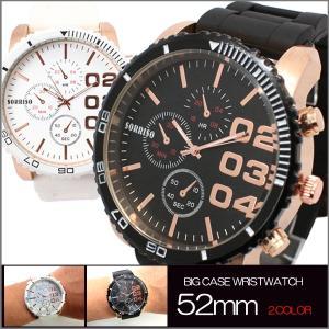 送料無料 ポイント10倍 (定形外郵便配送可能/3個まで) 腕時計 メンズ ニクソン好きさん  メンズ 52mm ビッグフェイス&ラバーベルト|italico