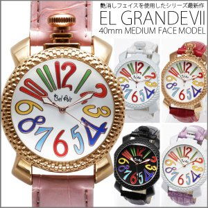 送料無料 (定形外郵便配送可能/3個まで) 腕時計 レディース 安い トップリューズ式 ミディアムフェイス カラフル文字盤40mm|italico