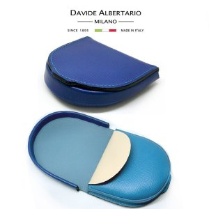 訳あり コインケース 財布 コンパクト ウォレット メンズ 本革 レザー 1962bl ダビデアルベルタリオ DAVIDE ALBERTARIO(t807-1)|italybag