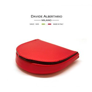 コインケース 財布 コンパクト ウォレット メンズ 本革 レザー 1962ro 赤 レッド ダビデアルベルタリオ DAVIDE ALBERTARIO(t807-1)|italybag