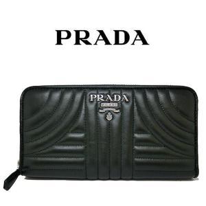 プラダ 長財布 PRADA キルティング ナッパ レザー ブラック ラウンドファスナー 黒 1ML506 2B0X F0002/NAPPA IMPUNTURE  (t812-1)|italybag