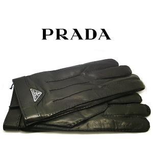 プラダ PRADA 手袋 グローブ nero 本革 レザー ブラック 黒 2gg003 (t901-2) 8055009515439 9 ラムスキン カシミア|italybag