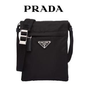 プラダ テクニカル ファブリック クロスボディバッグ PRADA  ショルダーバッグ プレートロゴ 黒 メンズ 8050533552097 2vh059(t901)|italybag