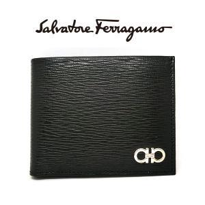 フェラガモ 二つ折り財布 メンズ Salvatore Ferragamo 66a065 本革 レザー 8058572405138 ブラック 黒 サルヴァトーレフェラガモ (t907)|italybag
