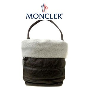 モンクレール MONCLER トート バッグ ファブリック×レザー lea borsa 243 ブラウン 112 09 A 00692 00 05841 (t804)|italybag