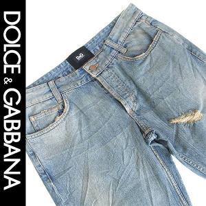 ドルチェ&ガッバーナ ドルガバ D&G Dolce&Gabbana メンズ ジーンズ ダメージ ブリーチアウト ヴィンテージブルー 83801627772 italybag