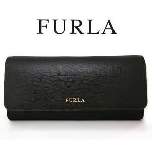 フルラ 長財布 二つ折り財布 レザー ブラック 黒 FURL...