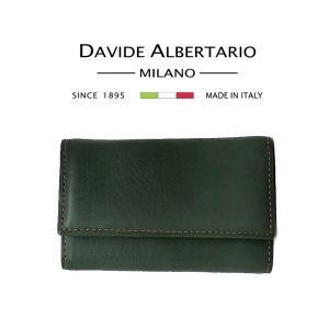 小傷あり キーケース 6連 本革 レザー 9922vc レディース ダビデアルベルタリオ DAVIDE ALBERTARIO(t807-1)|italybag