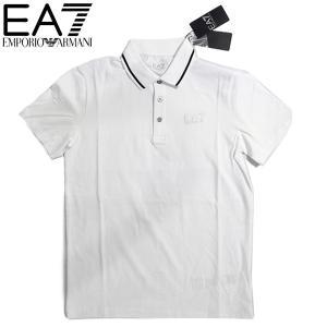 EMPORIO ARMANI EA7 エンポリオ アルマーニ エアセッテ イーエーセブン ポロシャツ 白 ホワイト メンズ トップス (t907)|italybag