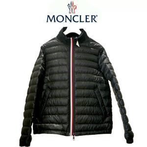 モンクレール MONCLER ライトダウンジャケット トリコロールライン ARROUX メンズ 4080499-53279 ブラック col.999 サイズ4  (t809)|italybag