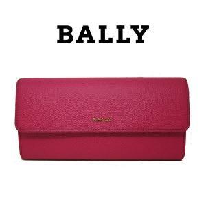 バリー BALLY 長財布 フラップ式 本革 レザー レディース 二つ折り 6201678 7612509293253 magenta マゼンダ ピンク  (t805-1)|italybag