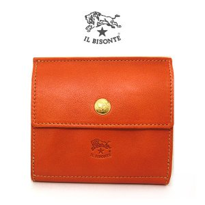 IL BISONTE イルビゾンテ 折りたたみ財布 二つ折り 本革 レザー901449689799 c0910-145(t907) 短財布|italybag