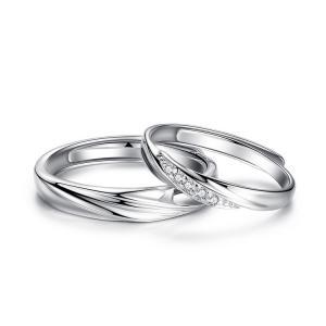 2本セット ペアリング 結婚 指輪 シルバーリング (t909)SV925 シルバー サイズ調整 chab-svrg1 プラチナメッキ|italybag