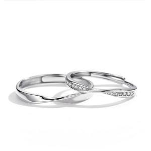 2本セット ペアリング 結婚 指輪 シルバーリング (t909)SV925 シルバー サイズ調整 chab-svrg2|italybag