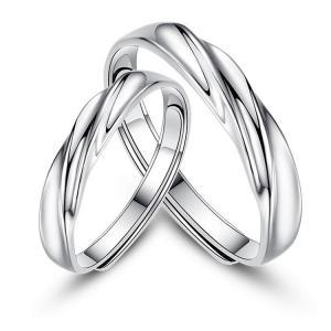 2本セット ペアリング 結婚 指輪 シルバーリング (t909)SV925 シルバー サイズ調整 chab-svrg4 フリーサイズ|italybag