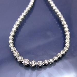 ネックレス ダイヤモンド テニスネックレス K18WG 18金ホワイトゴールド ok235417sp レディース ダイヤ(4月誕生石) ジュエリー 天然石 (t911-3)|italybag