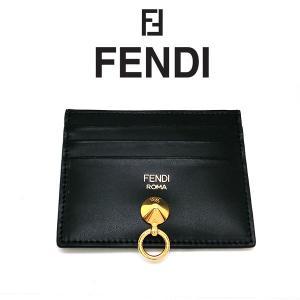 FENDI カードケース フェンディ 名刺入れ ブラック カーフスキン 8m0269smef0kur (t707) 8053362006502 italybag