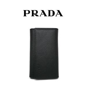 PRADA 6連キーケース サフィアーノレザー ブラック 紳士 男性 プラダ 小物 メンズ アクセサリー 2pg222053 (t707) 8054685607872|italybag