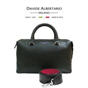 本革 イタリア ハンドバッグ ショルダー レザー レディース (t708-1) 20177bkgrigio ダビデアルベルタリオ DAVIDE ALBERTARIO italybag
