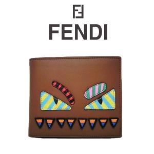 FENDI モンスター 二つ折り財布 フェンディ バグバグズ バッグバグズ BAG BUGS 7m0169o6gf08ld (t707) 8053362157426 italybag