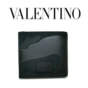 VALENTINO 二つ折り財布 迷彩柄 キャンバス×レザー ヴァレンティノ ガラヴァーニ カモフラージュ柄  2p04450no (t707) 87597601|italybag