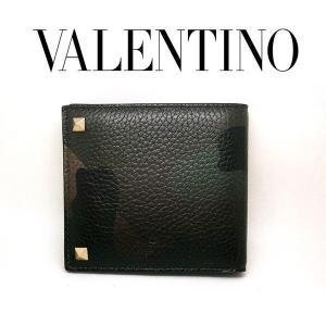 VALENTINO 二つ折り財布 迷彩柄 レザー バレンチノ ヴァレンティノ ガラヴァーニ カモフラージュ柄 my0p0654vxmy28 (t707) 360840259|italybag