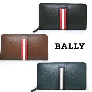 BALLY バリー ラウンドファスナー長財布 ブラック ブラウン ネイビー カーフレザー  6218055 (t712-2)|italybag
