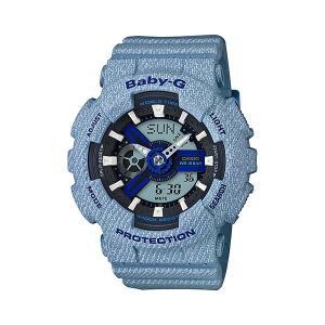 BABY-G カシオ DENIM'D COLOR レディース デニム CASIO 腕時計 watchss ba-110de-2a2jf(t706) 4549526162527(nd)|italybag