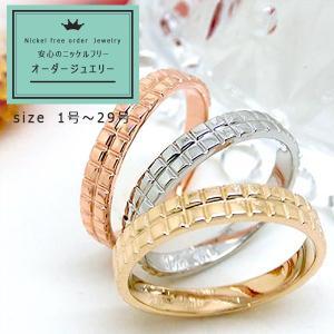 K10PG WG  YG  リング 指輪 ファッションリング ペアリング 地金 10金  yk-110|italybag