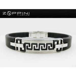 ステンレス ラバー ブレスレット zl1065 ZOPPINI ゾッピーニ イタリア メンズ italybag