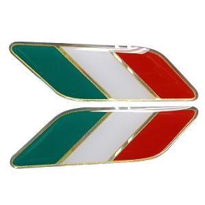 イタリア国旗3Dステッカー(スラッシュ/2枚組/Large)|itazatsu