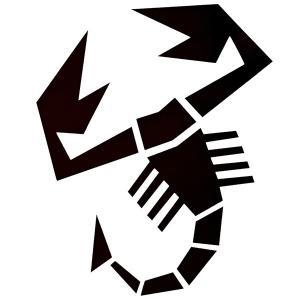 アバルト(スコーピオン)切り抜きステッカー (X-Large=ボンネット用サイズ) itazatsu