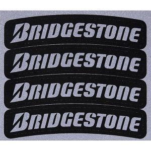 タイヤ用ロゴステッカー BRIDGESTONE (反射タイプ/4枚セット)|itazatsu