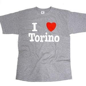 I LOVE TORINO Tシャツ (グレー)|itazatsu
