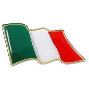 イタリア国旗3Dステッカー(はためき型)|itazatsu