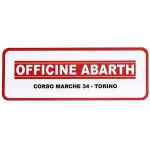 OFFICINE アバルト -CORSO MARCHE 34-TORINOステッカー itazatsu