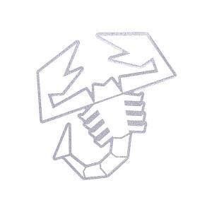 アバルト純正スコーピオンステッカー (シルバー縁取り)-21590- itazatsu