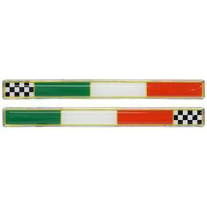 イタリア国旗&チェッカー3Dステッカーセット(110mm×10mm)|itazatsu