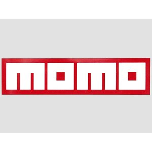 MOMOステッカー(レッドベース/ホワイトロゴ)|itazatsu