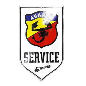 アバルト SERVICEホーローサインボード