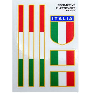 イタリア国旗ステッカーセット(反射素材/Type B)|itazatsu
