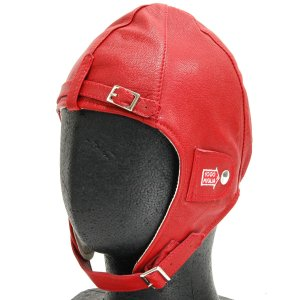 1000 MIGLIAオフィシャルレザーヘルメット(レッド) itazatsu