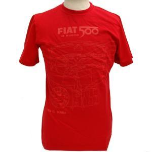 フィアット純正500Tシャツ(レッド)|itazatsu