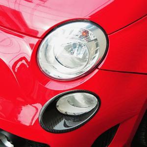 アバルト 500 カーボンポジションライトカバー by THREE HUNDRED|itazatsu