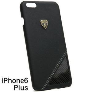 ランボルギーニ純正iPhone6/6s Plusレザー背面ケース(ブラック/カーボン) itazatsu