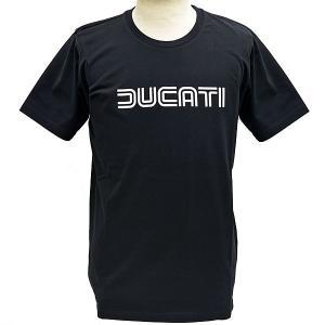 ドゥカティ純正Tシャツ-DUCATINA 80s/ブラック-...